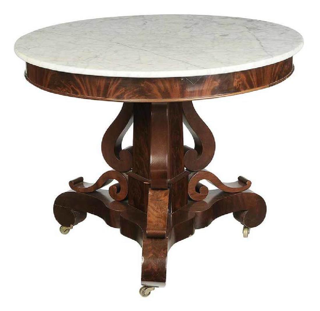 Rare Virginia Classical Marble Top Center Table