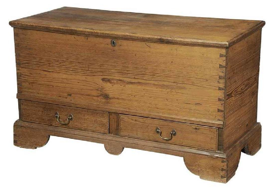 Southern Chippendale Yellow Pine Blanket Chest