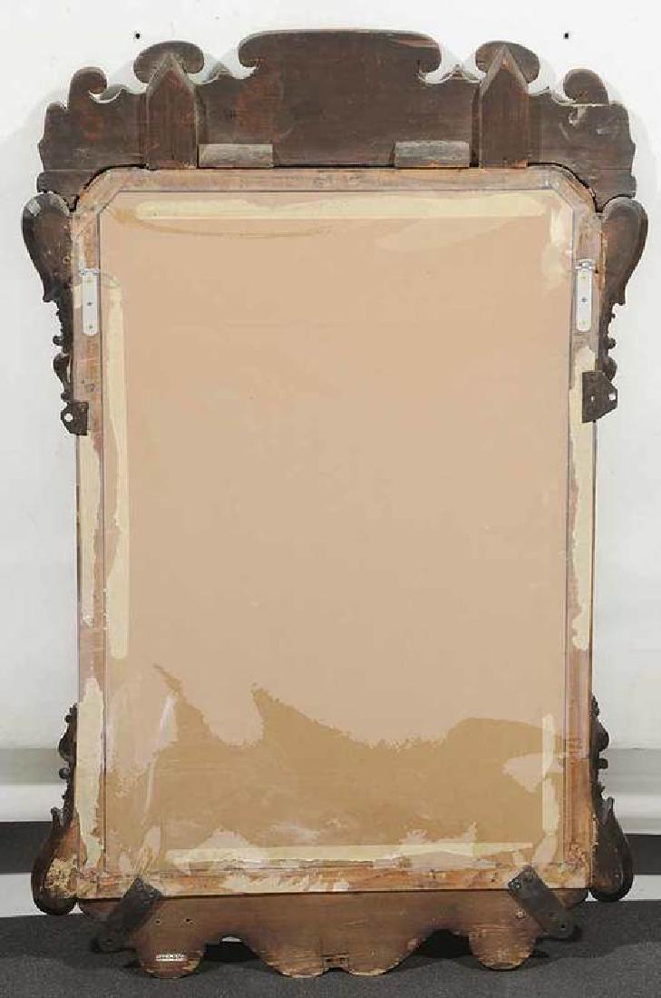 George II Walnut Mirror With Sconces - 5