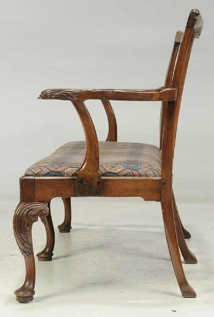 George II Caned Walnut Settee - 4