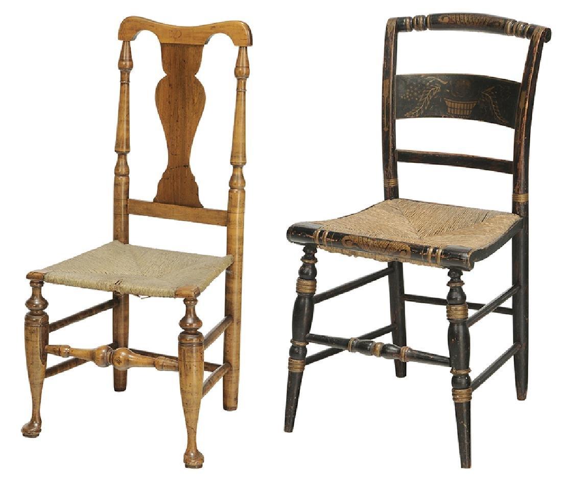American Queen Anne Rush Seat Side Chair