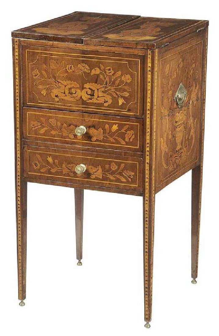 Dutch Neoclassical Marquetry Inlaid Wash Stand