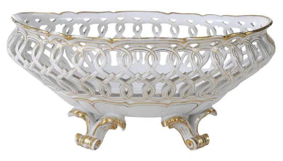 Paris Porcelain Reticulated Center Piece