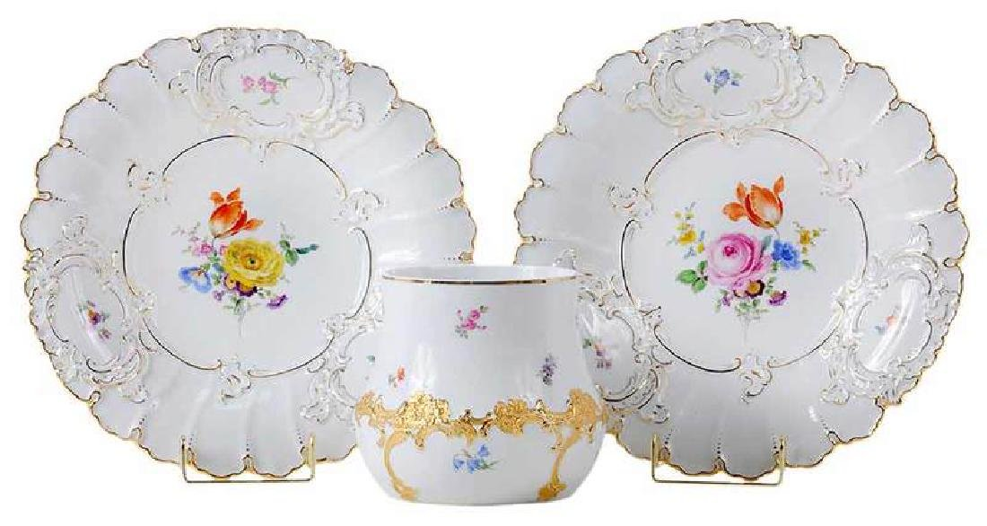 Three Meissen Porcelain Table Items