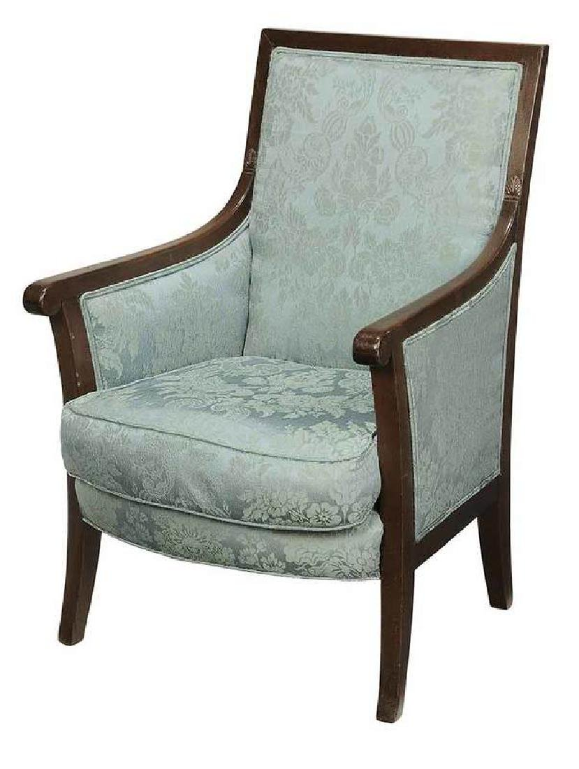 Regency Upholstered Mahogany Arm Chair