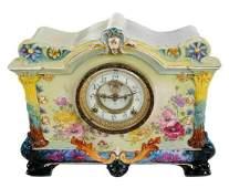 Bonn Porcelain Ansonia Mantle Clock