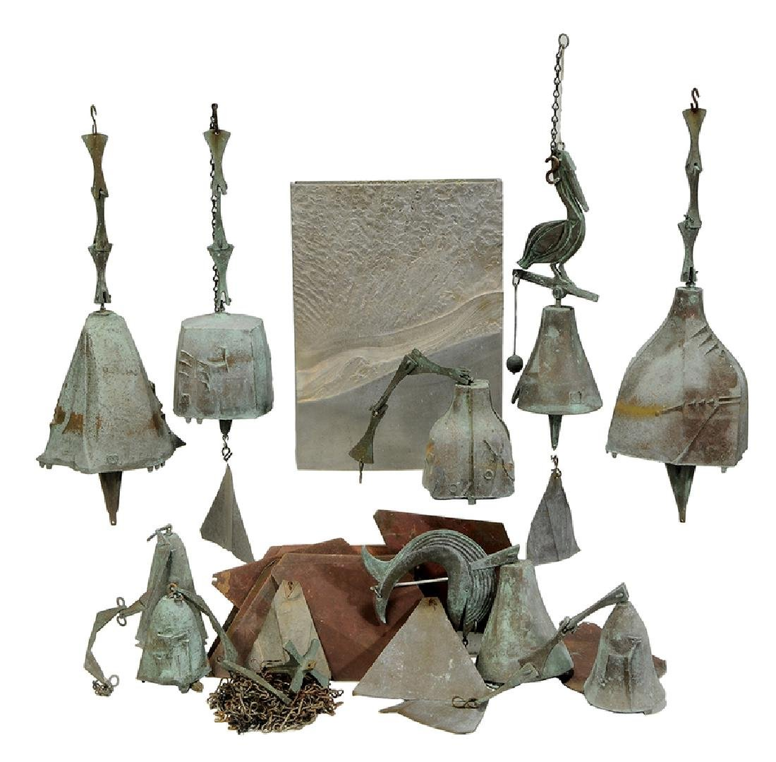 Ten Metal Objects/Vase and Bells
