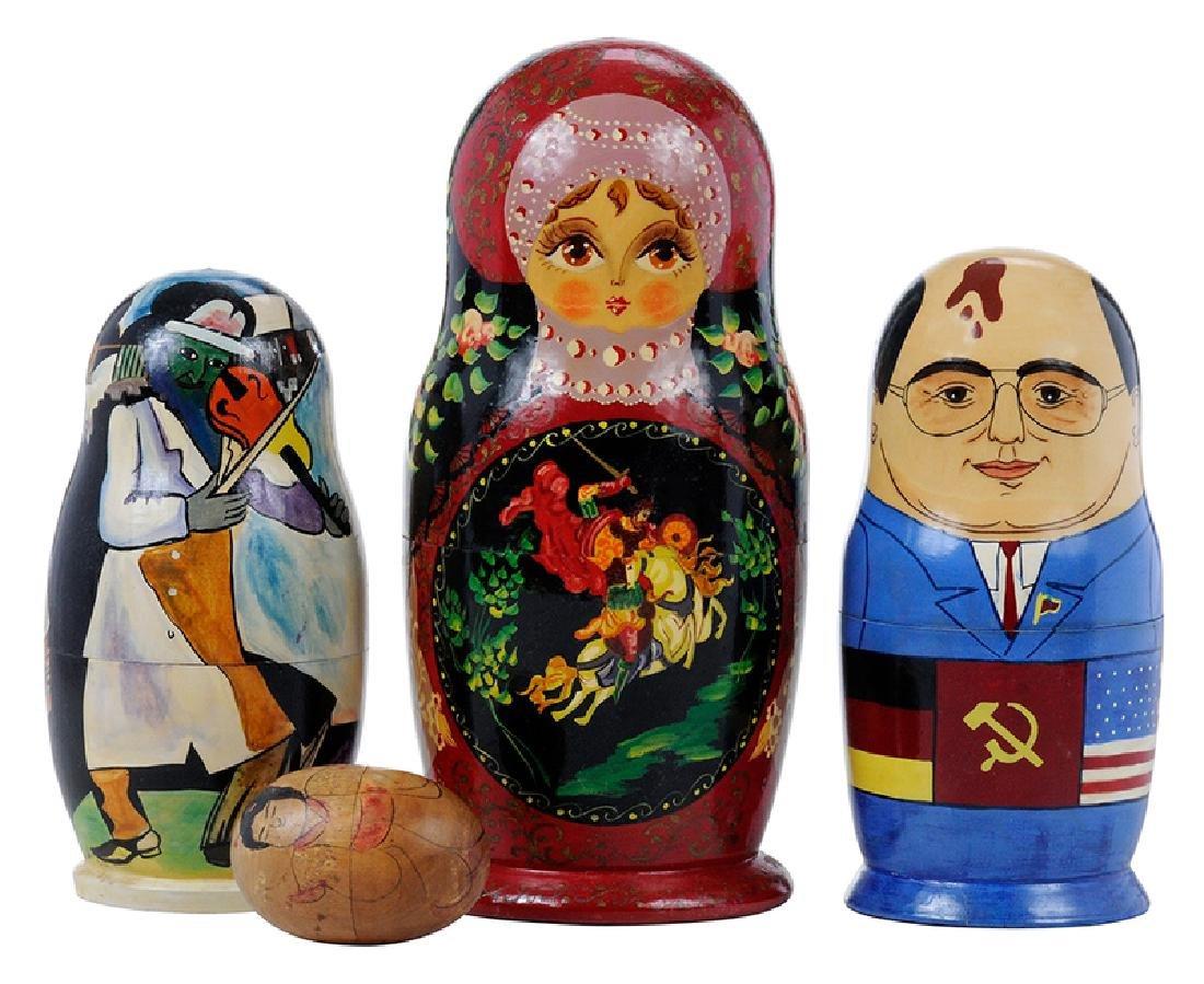 Four Wooden Nesting Dolls