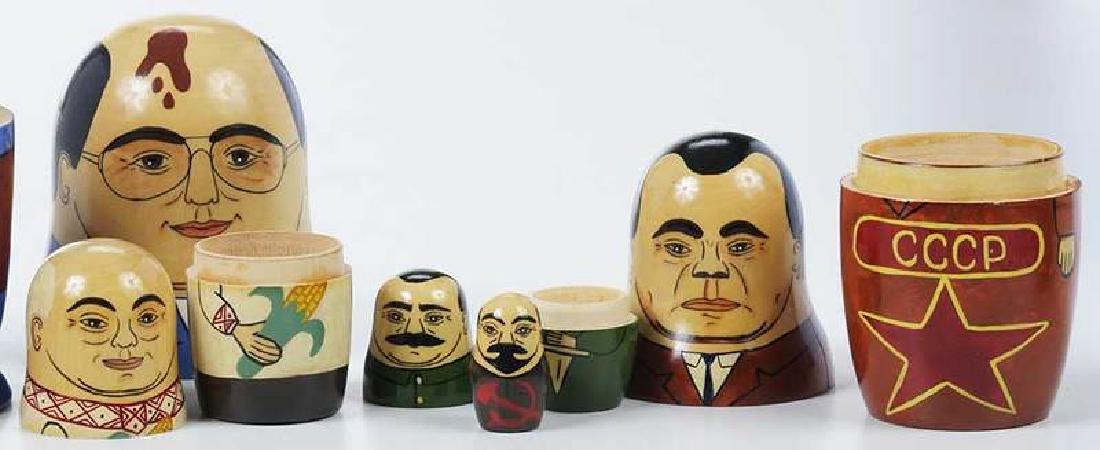 Four Wooden Nesting Dolls - 7