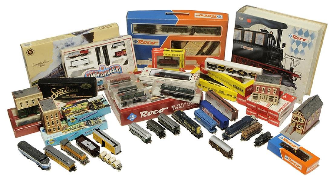 Large Group of Model Trains and Accessories