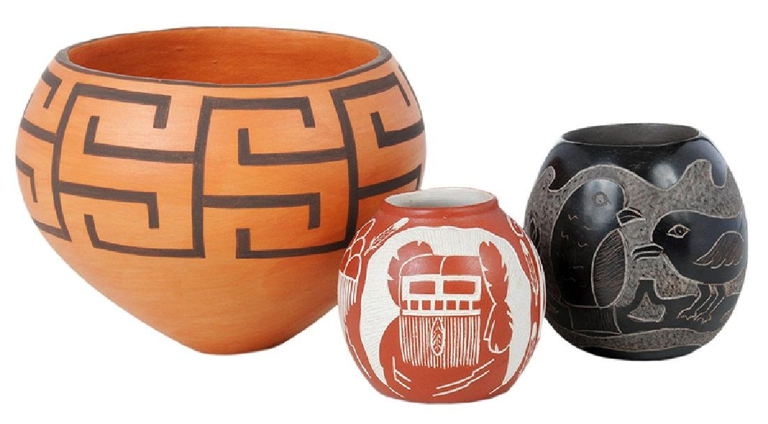 Three Small Southwestern Pottery Vessels