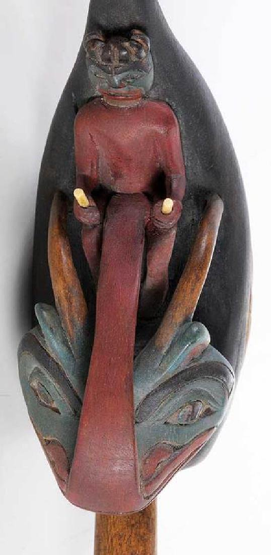 Two Carved Shaman's Rattles - 10