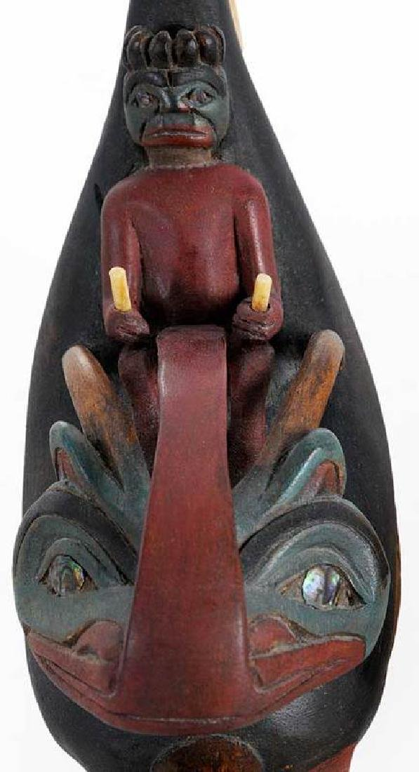 Two Carved Shaman's Rattles - 3