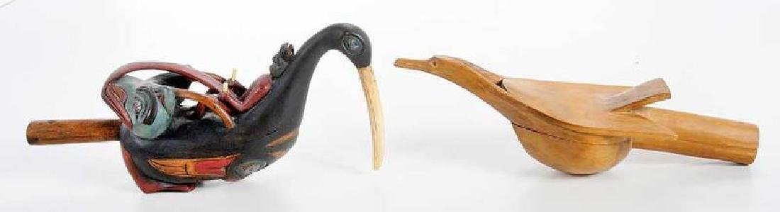 Two Carved Shaman's Rattles - 4