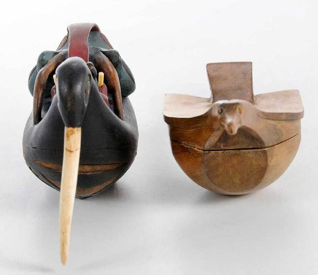 Two Carved Shaman's Rattles - 5