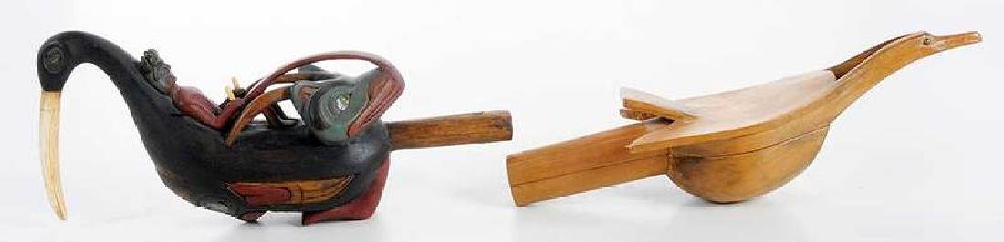 Two Carved Shaman's Rattles - 6