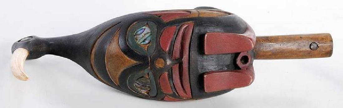 Two Carved Shaman's Rattles - 7