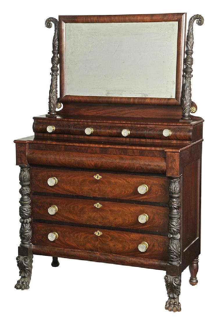 American Late Federal Carved MahoganyDresser