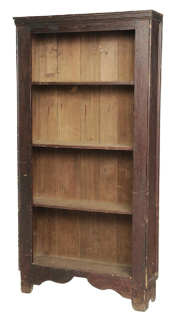 American Country Red Painted Flat Cupboard