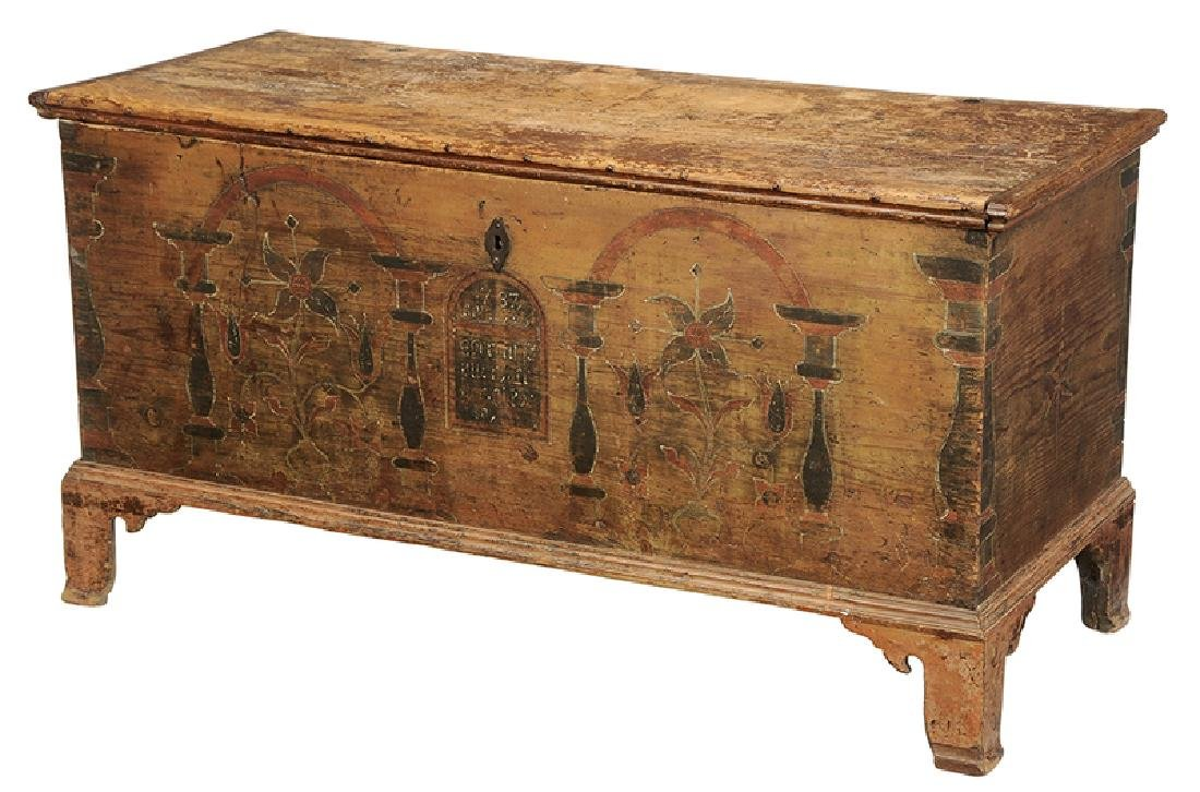 Pennsylvania Chippendale Decorated Blanket Chest