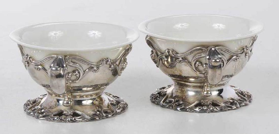 Set of Twelve Sterling and Ceramic Desserts - 4