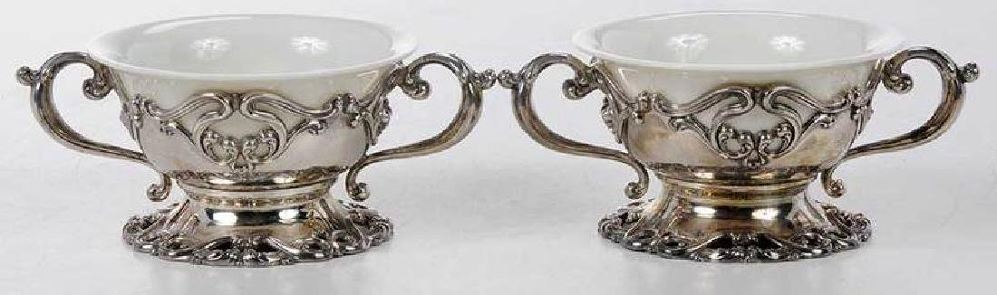 Set of Twelve Sterling and Ceramic Desserts - 5