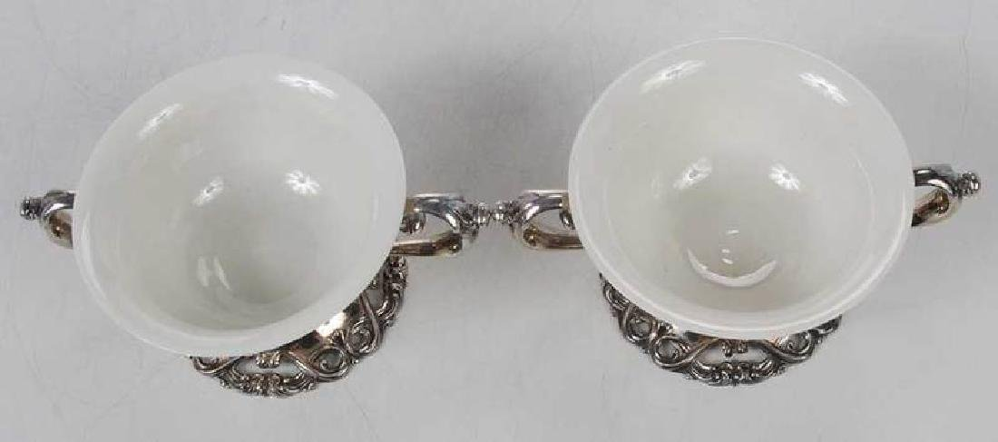 Set of Twelve Sterling and Ceramic Desserts - 6
