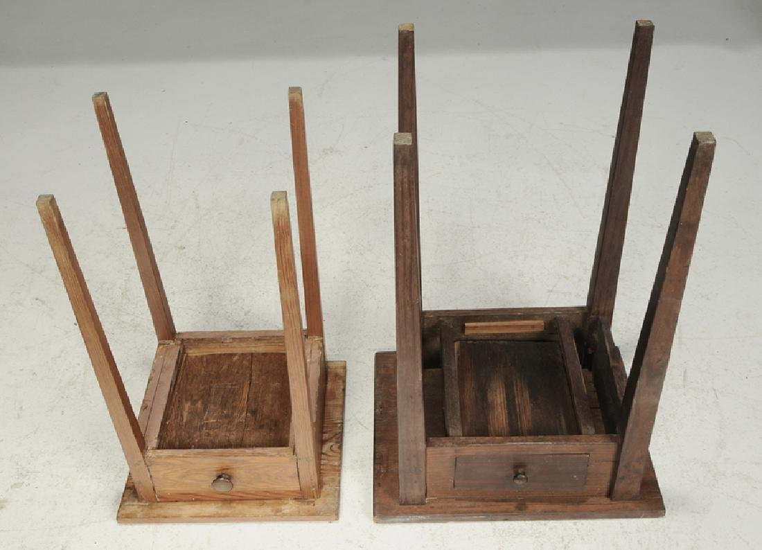 Two Southern Yellow Pine One Drawer Stands - 3