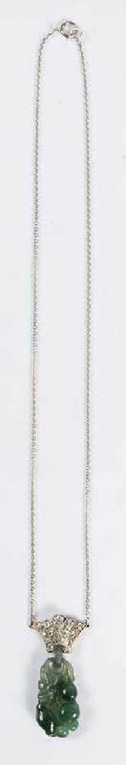 Platinum, Diamond & Jade Pendant - 3