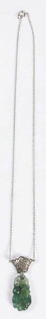 Platinum, Diamond & Jade Pendant - 4