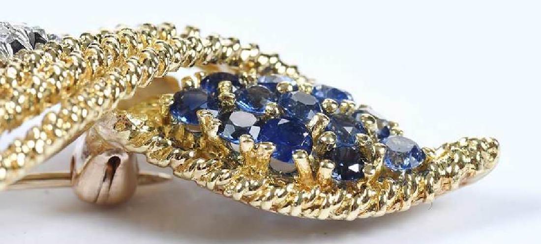18kt. Diamond & Sapphire Brooch - 10