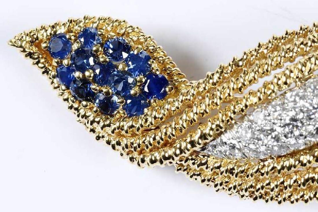 18kt. Diamond & Sapphire Brooch - 2