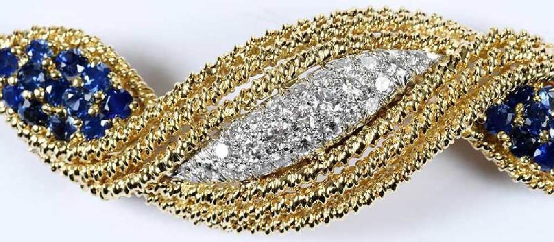 18kt. Diamond & Sapphire Brooch - 3