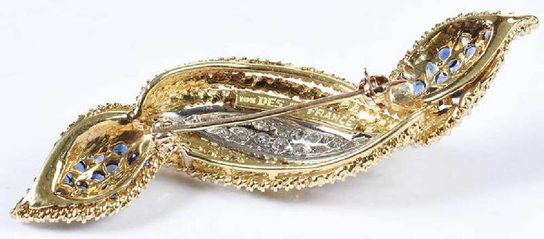 18kt. Diamond & Sapphire Brooch - 6