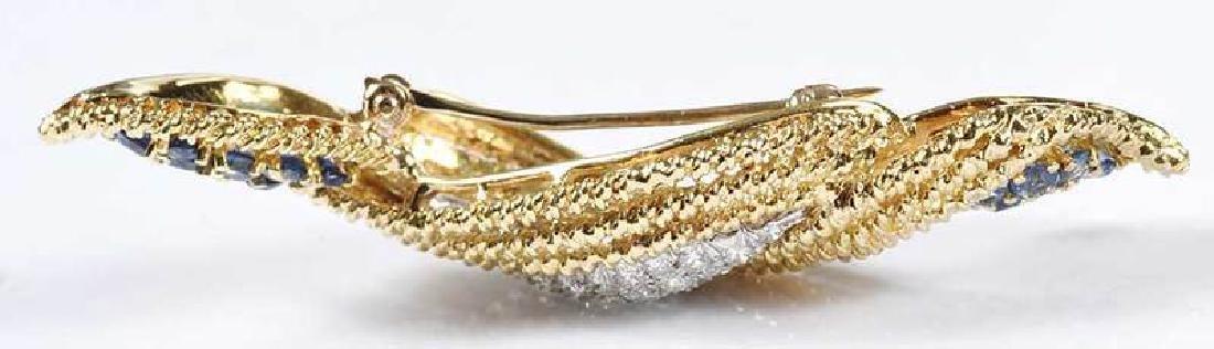 18kt. Diamond & Sapphire Brooch - 8