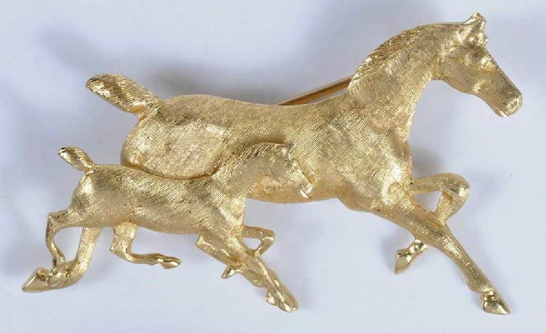 Two 14kt. Horse Brooches - 2