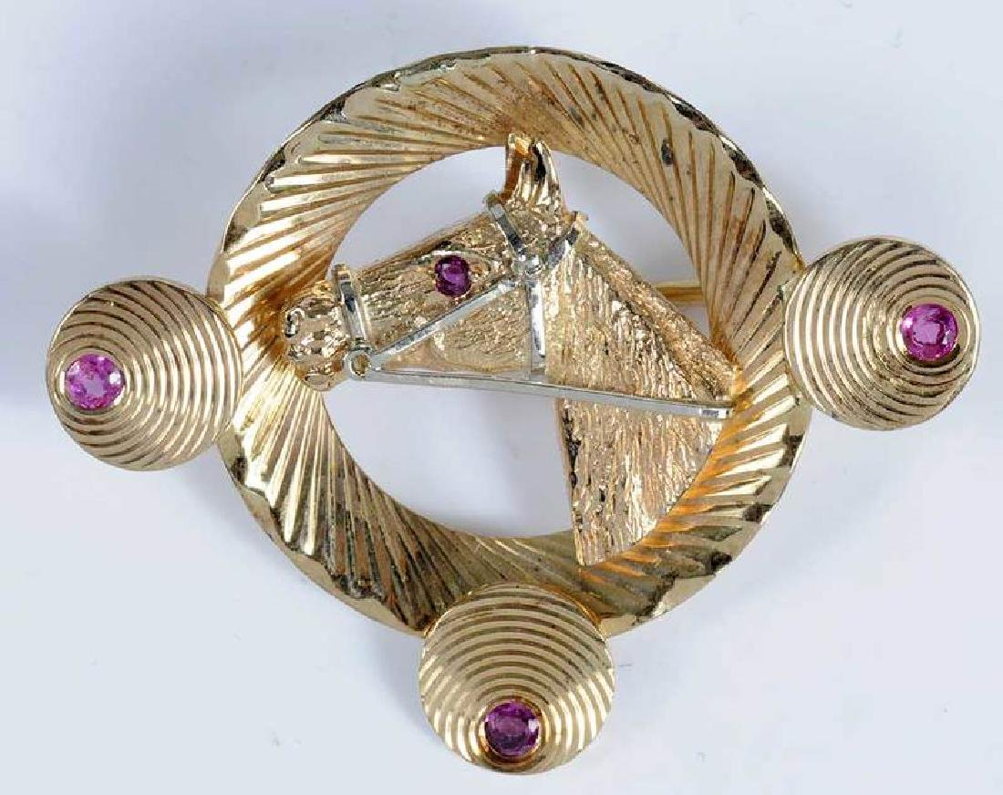 Two 14kt. Horse Brooches - 3