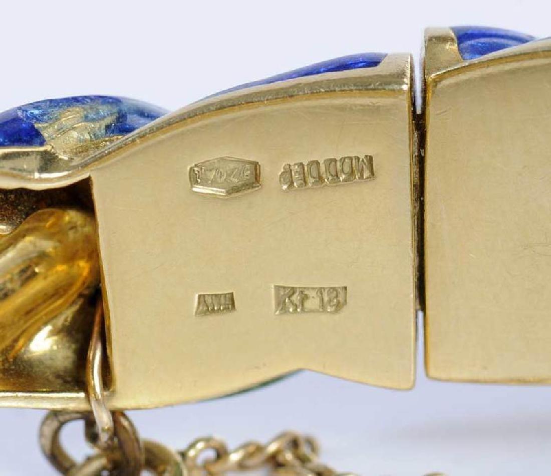 18kt., Diamond & Enamel Horse Bracelet - 5
