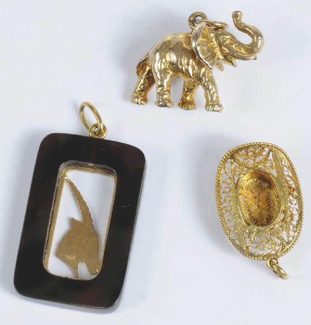 14 Gold Charms Including Cartier - 9