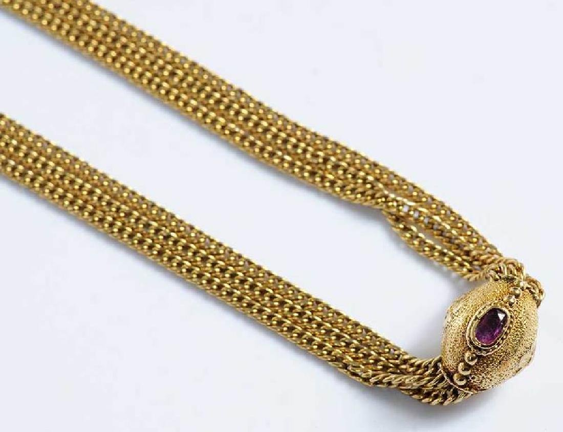 Gold & Ruby Necklace - 2