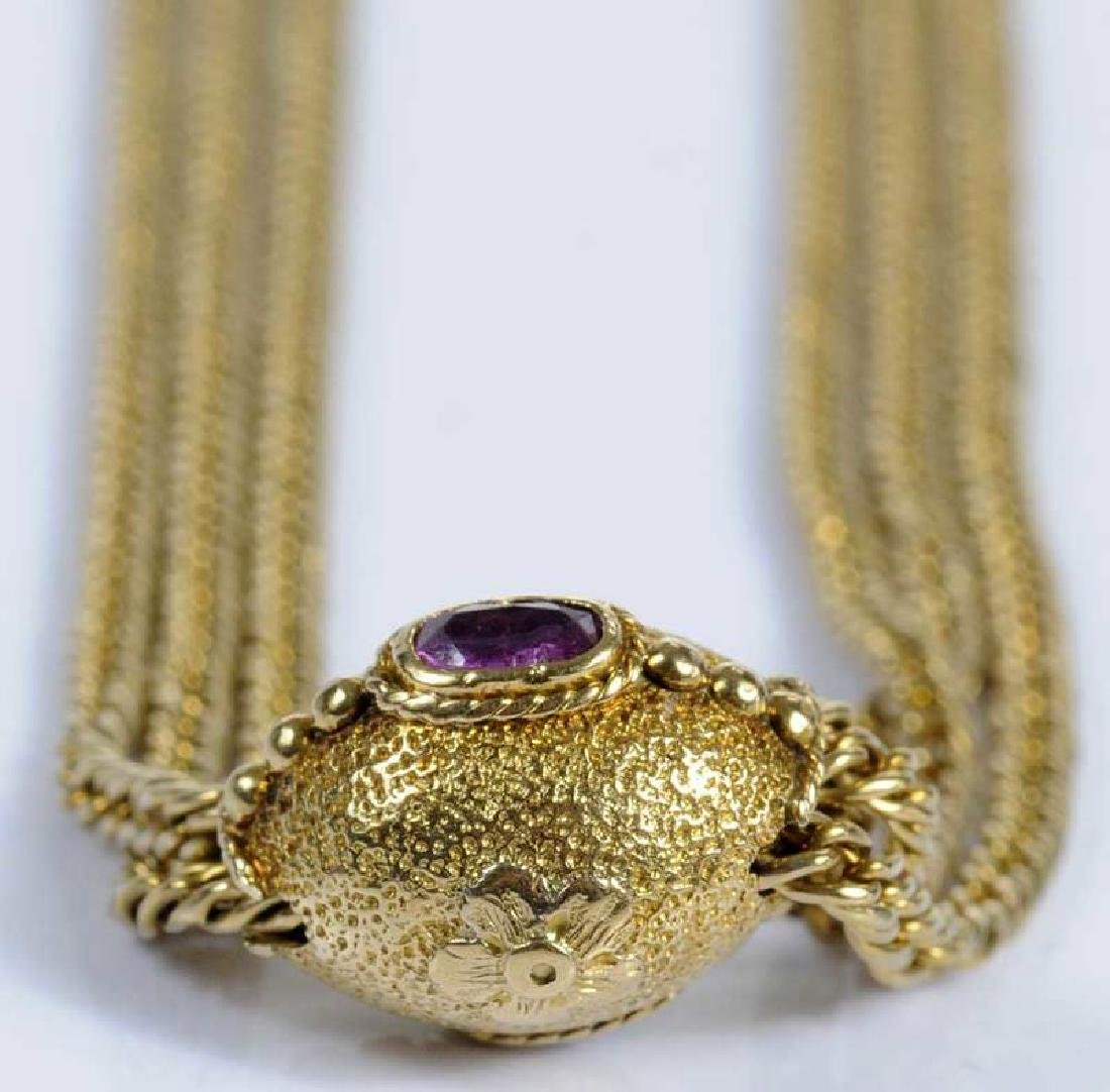 Gold & Ruby Necklace - 3