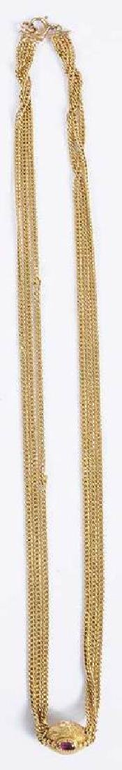 Gold & Ruby Necklace - 6