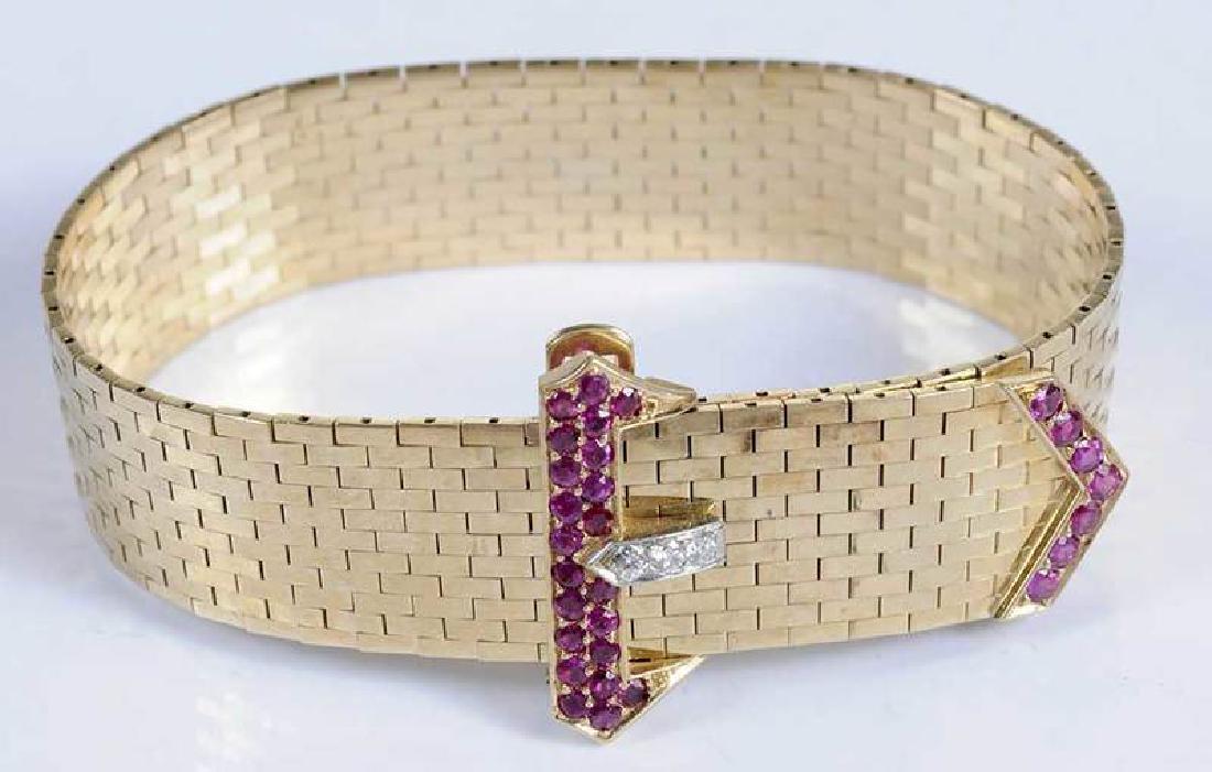Retro 14kt. Diamond Bracelet - 2