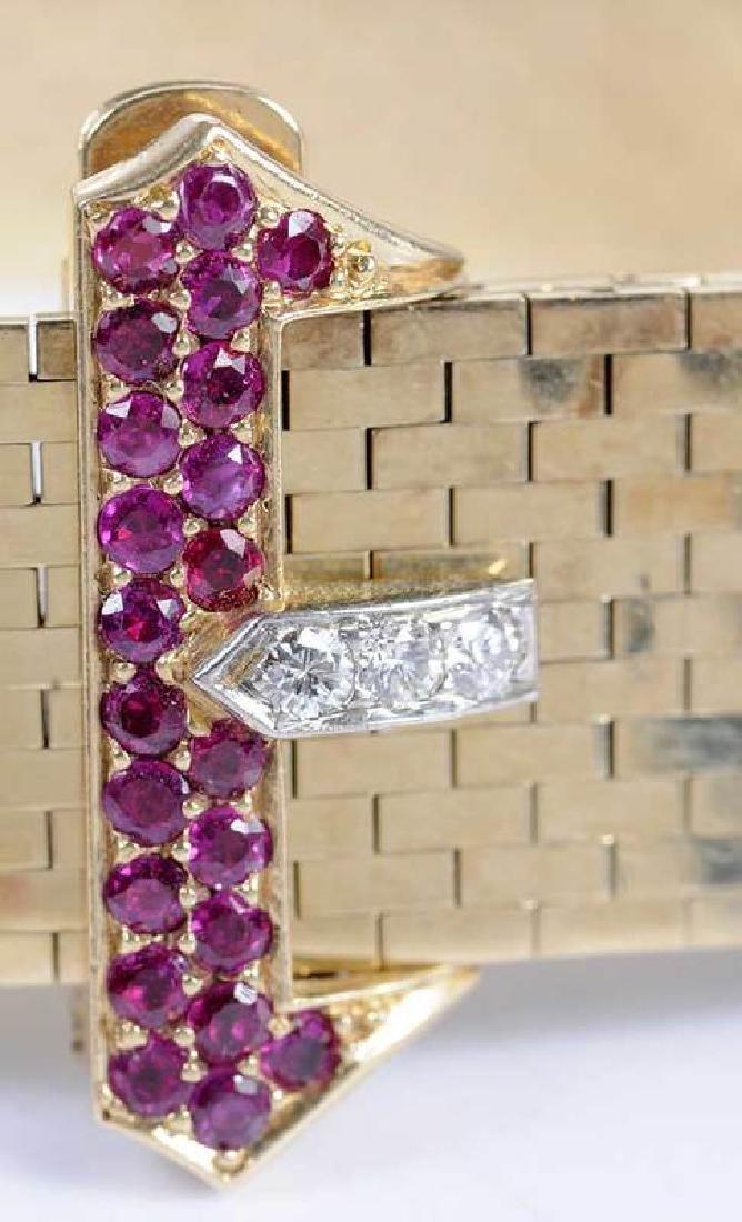 Retro 14kt. Diamond Bracelet - 3