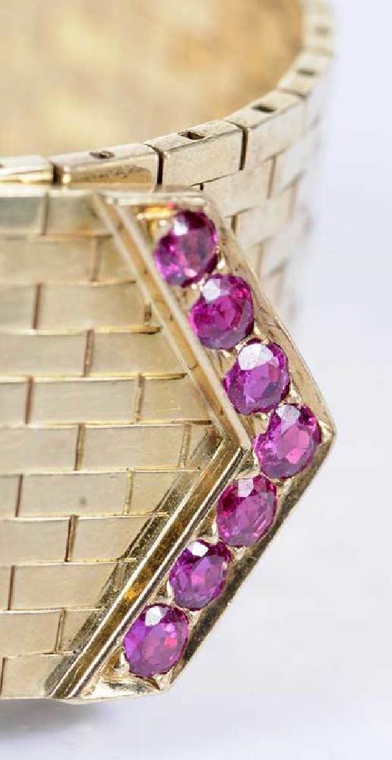 Retro 14kt. Diamond Bracelet - 4