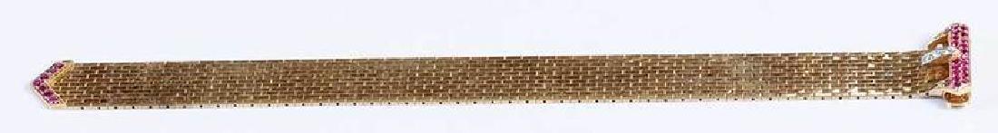 Retro 14kt. Diamond Bracelet - 7
