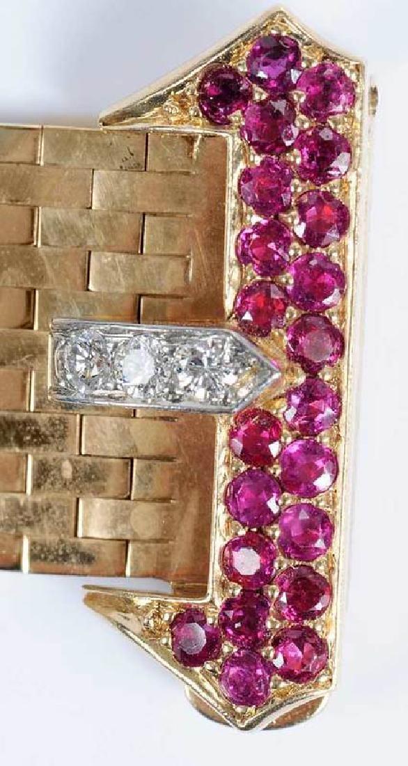 Retro 14kt. Diamond Bracelet - 8