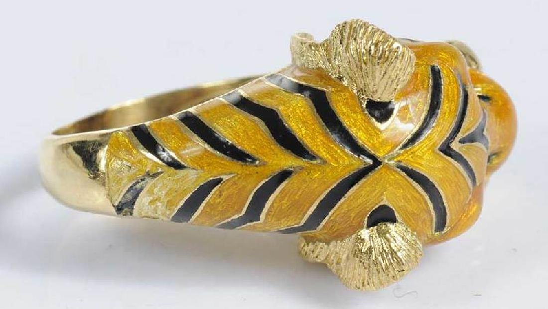 Three Pieces Gold Lion & Tiger Jewelry - 3
