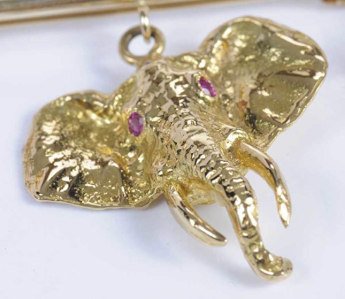 Gold & Ruby Animal Brooch - 10