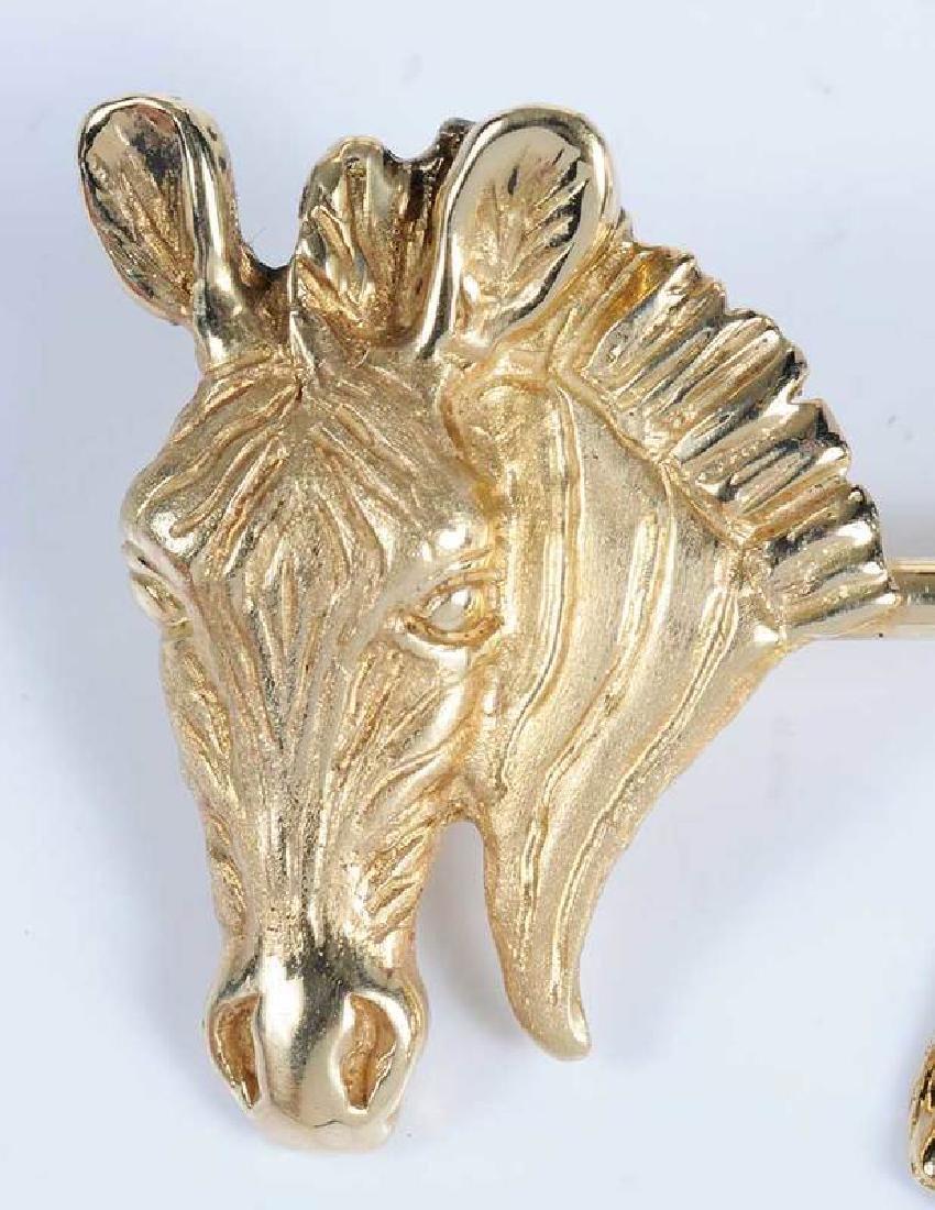 Gold & Ruby Animal Brooch - 2
